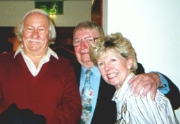 Ron, Tommy Sampson and Rosemary in 2001